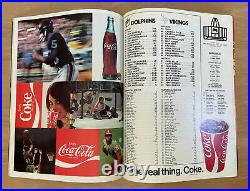 VINTAGE 1973-74 NFL SUPER BOWL VIII PROGRAM MINNESOTA VIKINGS v MIAMI DOLPHINS