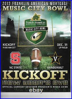 Vanderbilt Football Bowl Game Programs Complete Set of 9
