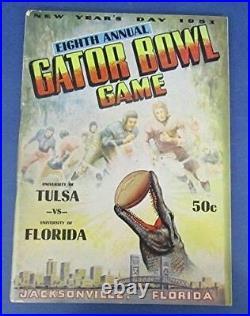 Vintage 1953 Gator Bowl Football Program Tulsa Vs. Florida Gators 123044