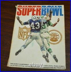 Vintage 1969 3rd Super Bowl lll WCG Football Program NY Jets vs. Baltimore Colts