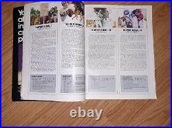 Vintage 1972-73 NFL Super Bowl VII Program Washington Redskins Miami Dolphins