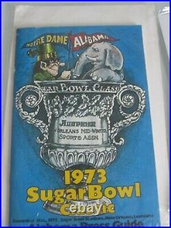 Vintage Alabama Football Media Guide / Program Lot 1973 1978 Sugar Bowl'73 Cott