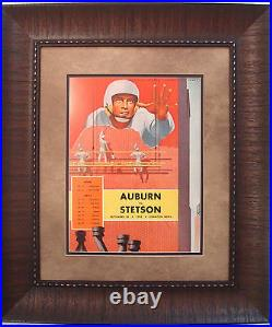 Vintage Auburn Football Program Framed Auburn Vs Stetson Crawton Bowl 1953