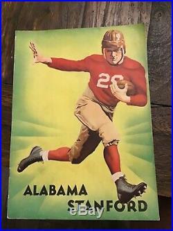 Vintage January 1, 1935 Rose Bowl Alabama vs Stanford Football Program 289