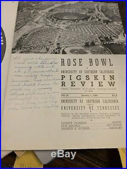 Vintage January 1, 1940 Rose Bowl -Tennessee vs USC College Football Program