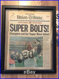 Vintage NFL San Diego Super Chargers 1995 Super Bowl Union / Tribune Newspaper