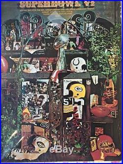 Vintage NFL Super Bowl VI Game Program Cowboys-Dolphins 1972 VGC