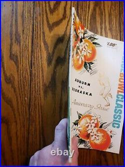 Vintage Nebraska Vs Auburn 1964 Orange Bowl Program Football