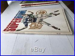 Vintage Original 1969 Super Bowl III Program Baltimore Colts New York Jets