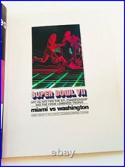 Vintage Rare Authentic 1973 Super Bowl VII Football Program Miami VS Washington
