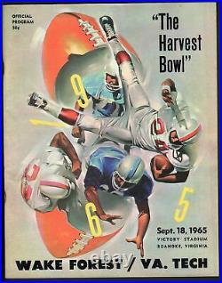 Virginia Tech Vs. Wake Forrest-1965-harvest Bowl-college Football Program