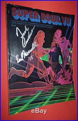Vtg 1973 SUPER BOWL VII GAME PROGRAM Signed Miami Dolphins/Redskins Los Angeles