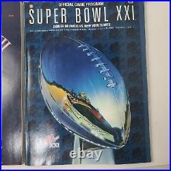 Vtg Super Bowl Game Program Lot of 6 NFL Football XXII, XII, XII XXI, XXII, XXIV