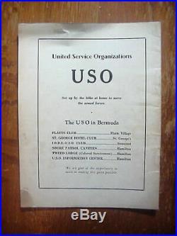 WW2 3rd LILY BOWL GAME Bermuda ARMY vs NAVY Football PROGRAM Jan 7 1945