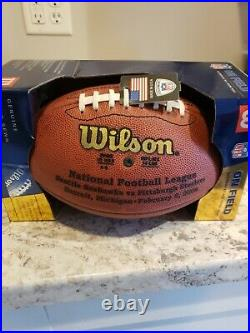 Wilson NFL Official Super Bowl XL (40) Authentic Football Pittsburgh vs Seattle