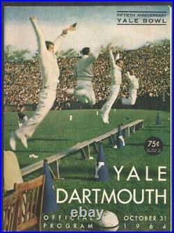 Yale vs Dartmouth NCAA Football Game Program-10/17/1964-Yale Bowl-Historic Iv