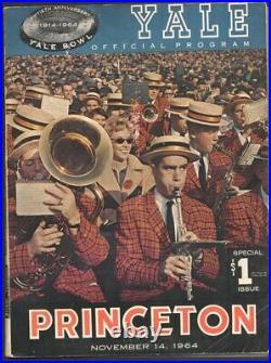 Yale vs Princeton NCAA Football Game Program-11/14/1964-Yale Bowl-Historic Iv